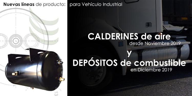 Lanzamiento de 2 líneas de producto: Calderines de Aire y Depósitos de Combustible